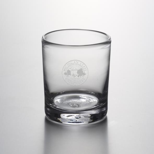 Michigan State Double Old Fashioned Glass by Simon Pearce - Image 2