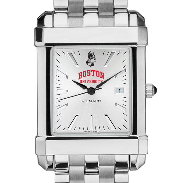 Boston University Men's Collegiate Watch w/ Bracelet - Image 1