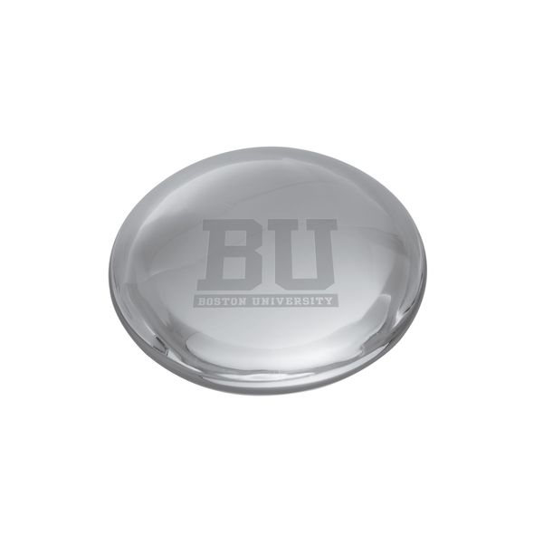 Boston University Glass Dome Paperweight by Simon Pearce