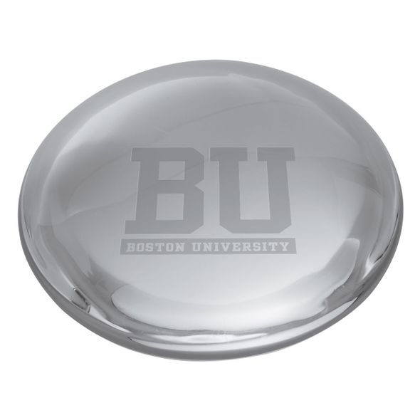 Boston University Glass Dome Paperweight by Simon Pearce - Image 2