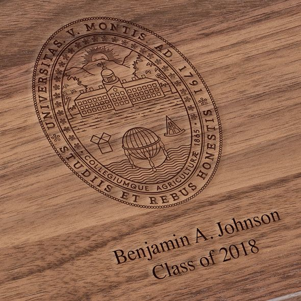 University of Vermont Solid Walnut Desk Box - Image 3