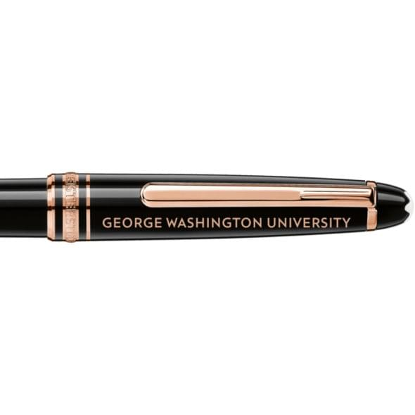 George Washington University Montblanc Meisterstück Classique Ballpoint Pen in Red Gold - Image 2