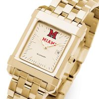 Miami University Men's Gold Quad with Bracelet