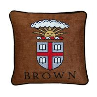 Brown University Handstitched Pillow