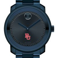 Boston University Men's Movado BOLD Blue Ion with Bracelet