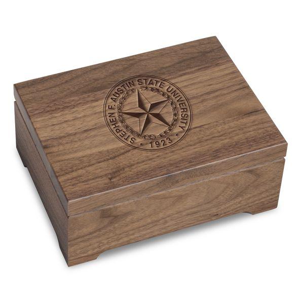 SFASU Solid Walnut Desk Box