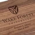 Wake Forest University Solid Walnut Desk Box - Image 3