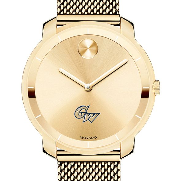 George Washington University Women's Movado Gold Bold 36