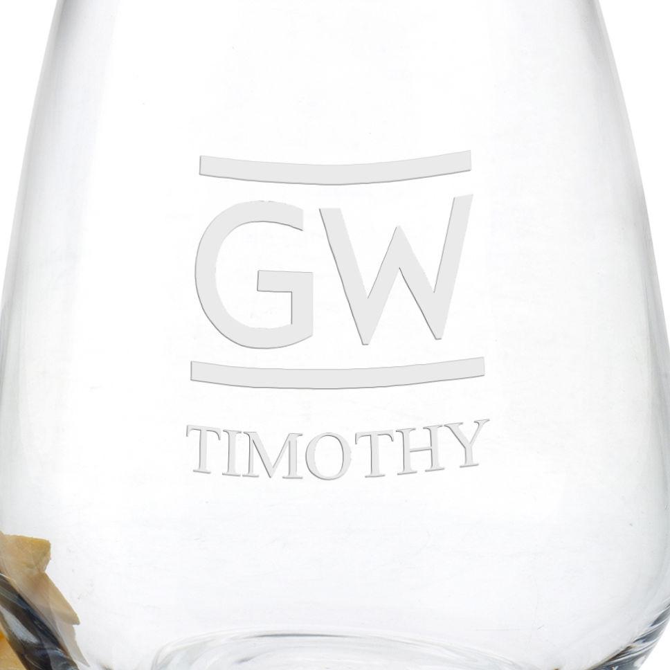 George Washington University Stemless Wine Glasses - Set of 4 - Image 3
