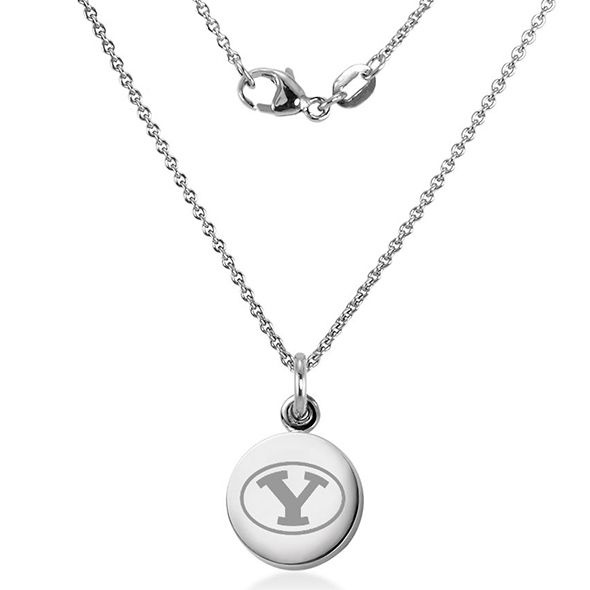 Brigham Young University Necklace with Charm in Sterling Silver - Image 2