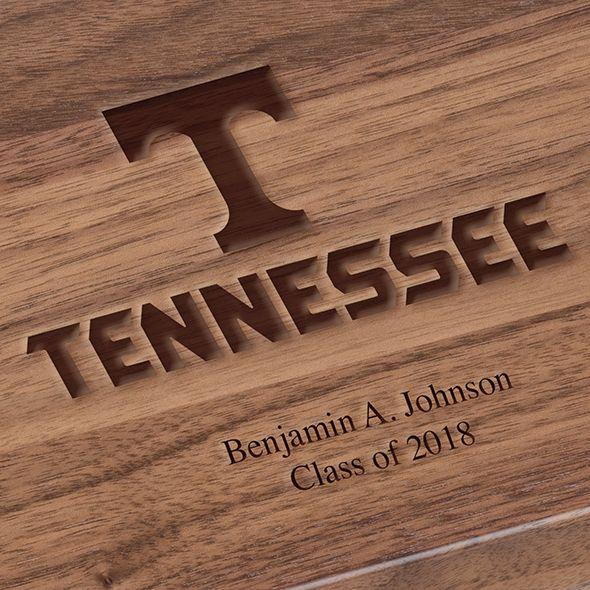 University of Tennessee Solid Walnut Desk Box - Image 3