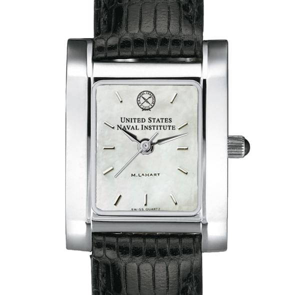 USNI Women's Mother of Pearl Quad Watch with Leather Strap
