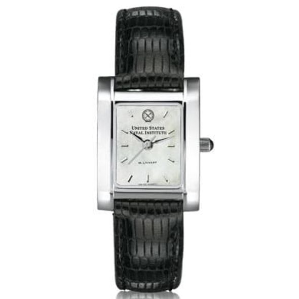USNI Women's Mother of Pearl Quad Watch with Leather Strap - Image 2