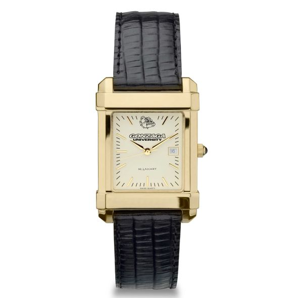 Gonzaga Men's Gold Quad with Leather Strap - Image 2