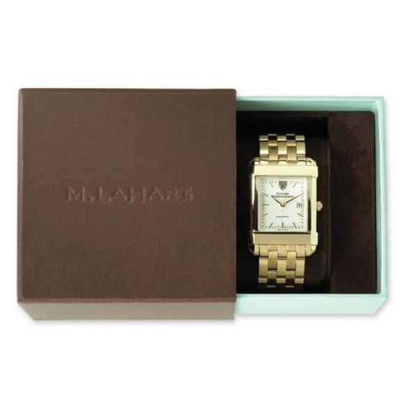 Gonzaga Men's Gold Quad with Leather Strap - Image 4