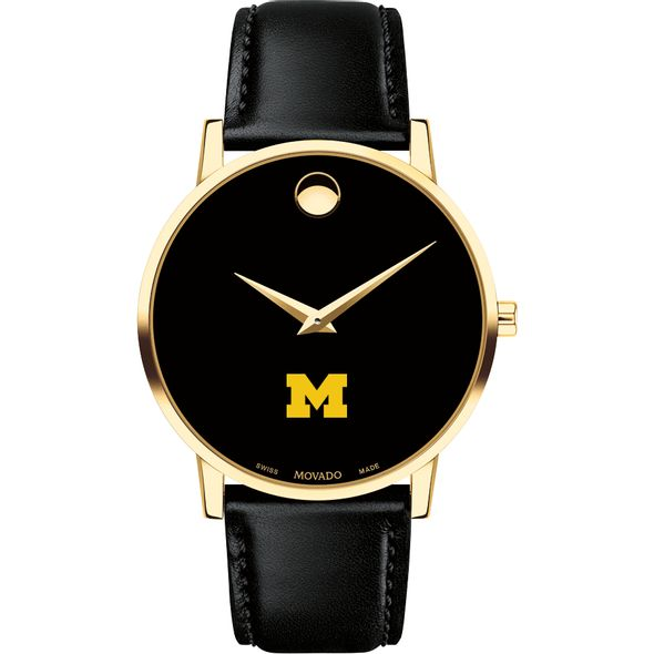 Michigan Men's Movado Gold Museum Classic Leather - Image 2