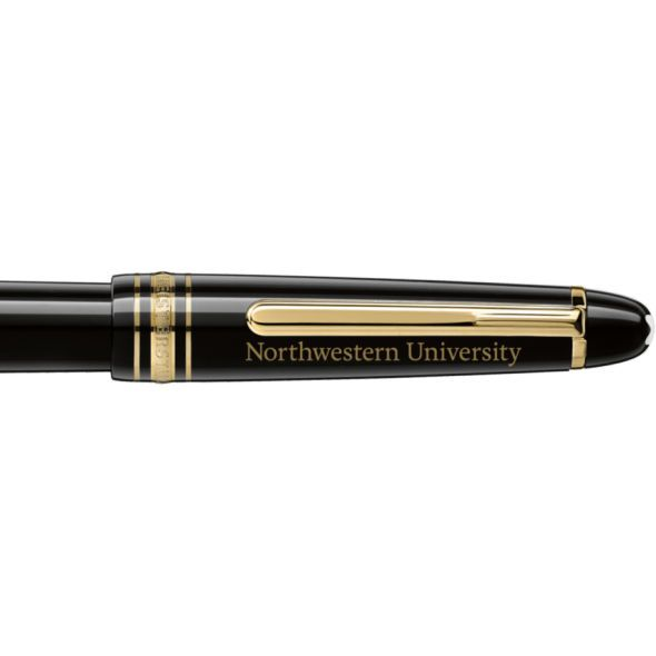 Northwestern University Montblanc Meisterstück Classique Fountain Pen in Gold - Image 2