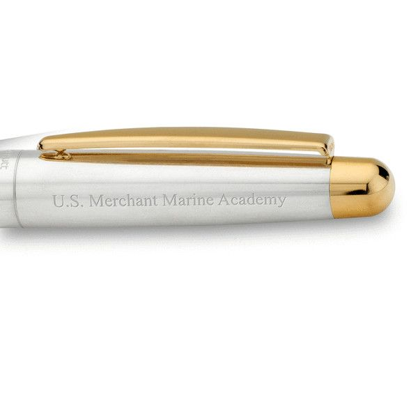 US Merchant Marine Academy Fountain Pen in Sterling Silver with Gold Trim - Image 2