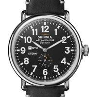 NYU Stern Shinola Watch, The Runwell 47mm Black Dial