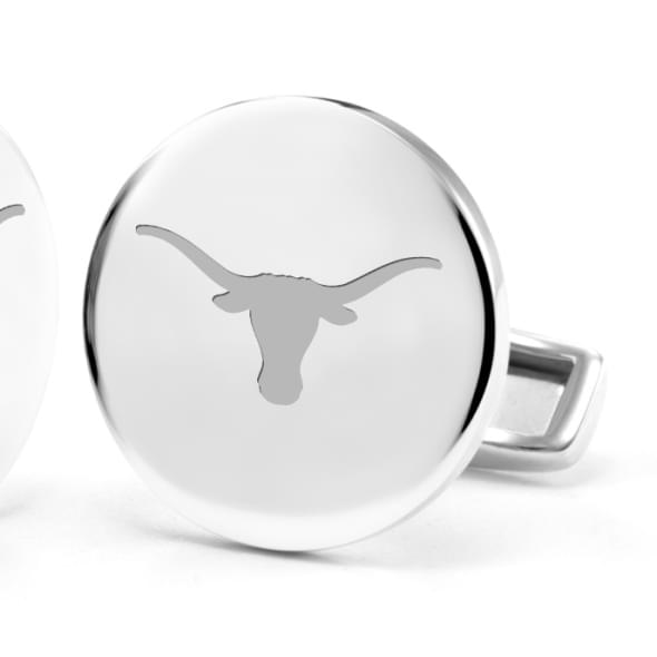 University of Texas Cufflinks in Sterling Silver - Image 2