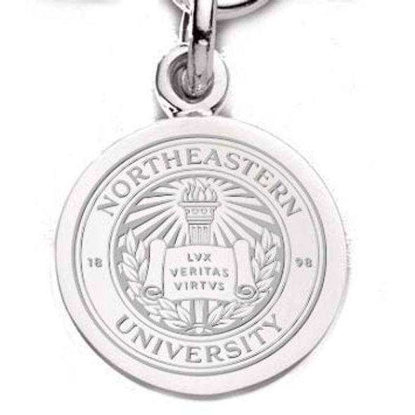 Northeastern Sterling Silver Charm - Image 1