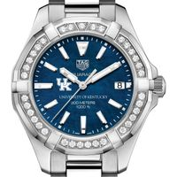 Kentucky Women's TAG Heuer 35mm Steel Aquaracer with Blue Dial