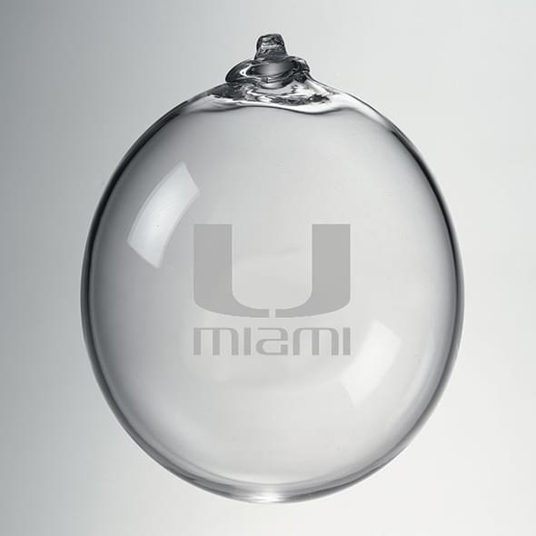 Miami Glass Ornament by Simon Pearce - Image 2