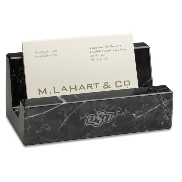 Oklahoma State Marble Business Card Holder