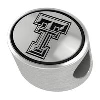Texas Tech Enameled Bead in Black
