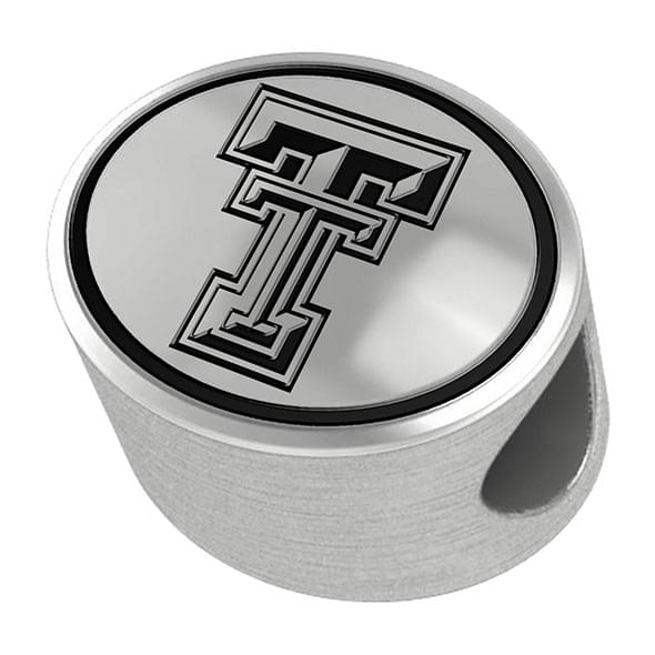 Texas Tech Enameled Bead in Black - Image 1