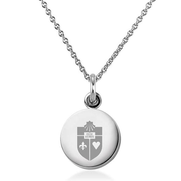 St. John's University Necklace with Charm in Sterling Silver