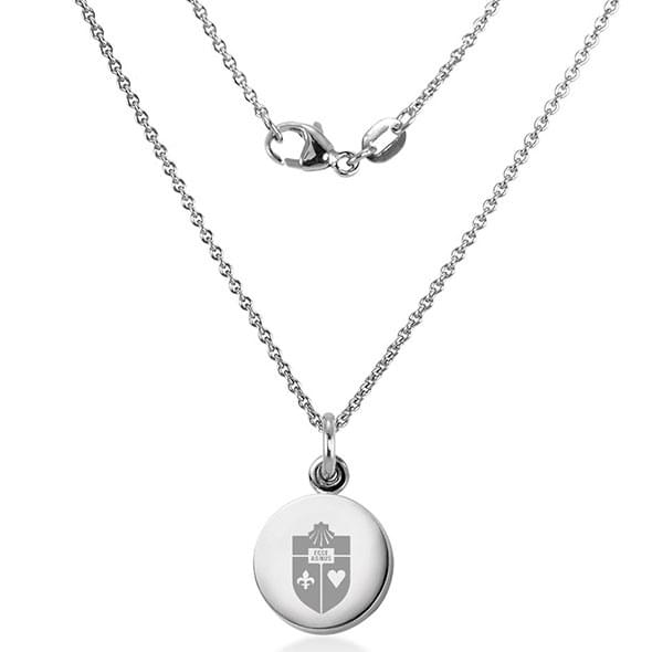 St. John's University Necklace with Charm in Sterling Silver - Image 2