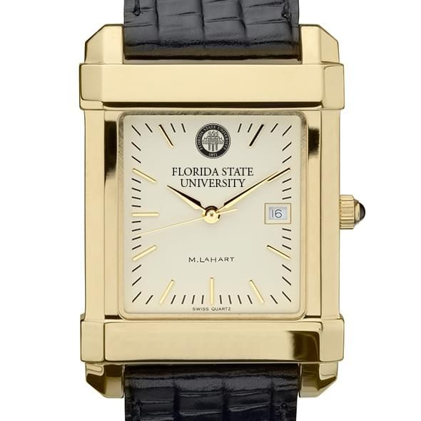Florida State Men's Gold Quad with Leather Strap - Image 1
