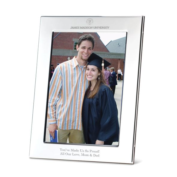 James Madison University Polished Pewter 5x7 Picture Frame - Image 1