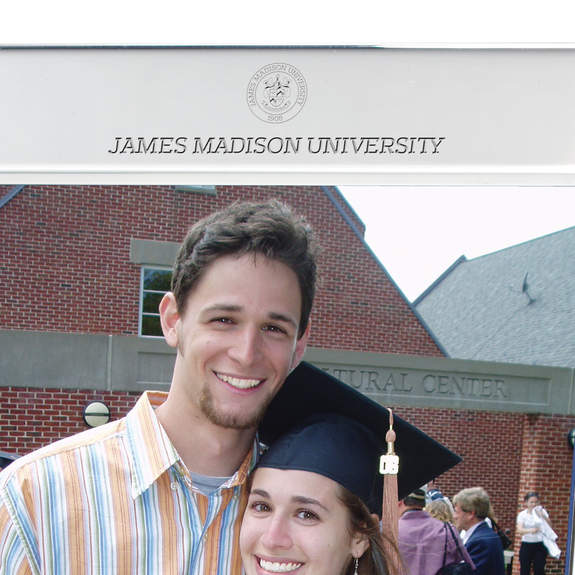 James Madison Polished Pewter 5x7 Picture Frame - Image 2
