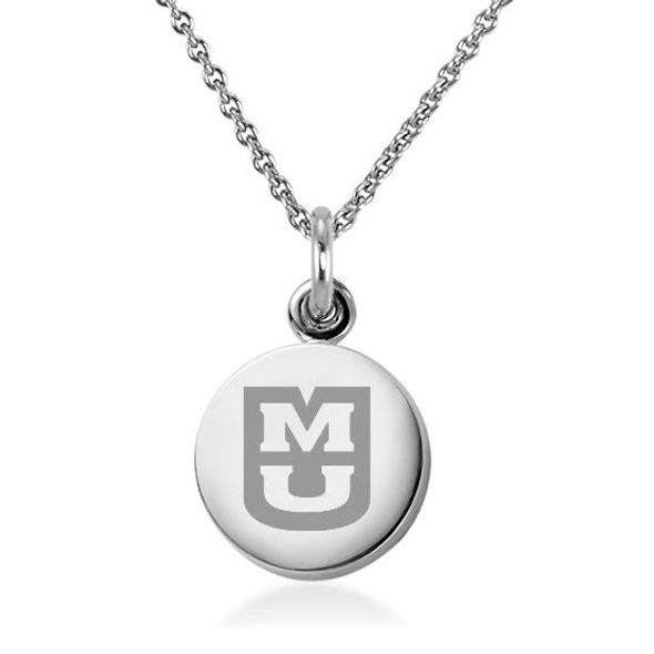 University of Missouri Necklace with Charm in Sterling Silver