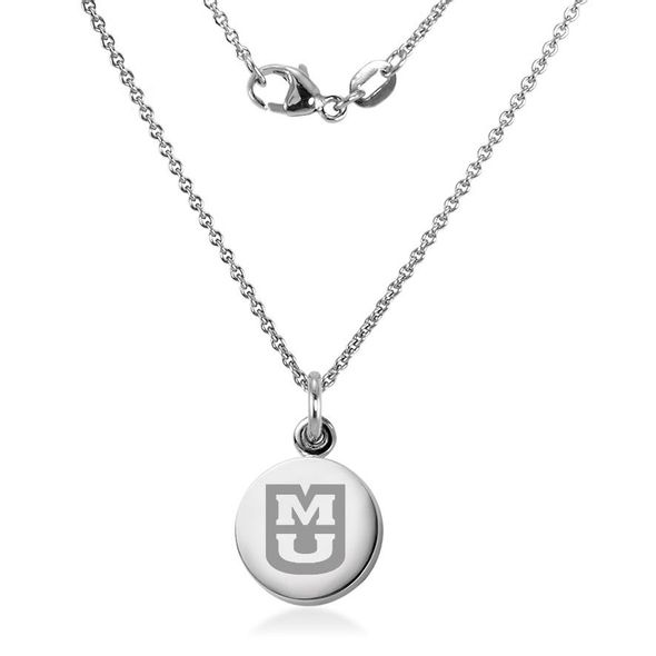 University of Missouri Necklace with Charm in Sterling Silver - Image 2