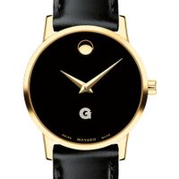 Georgetown University Women's Movado Gold Museum Classic Leather