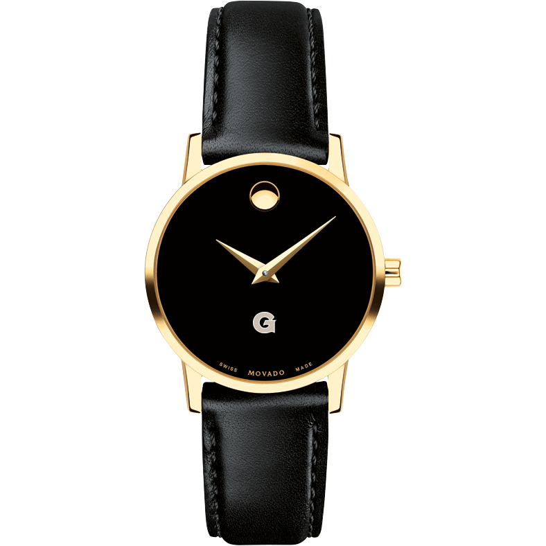 Georgetown Women's Movado Gold Museum Classic Leather - Image 2