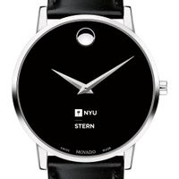NYU Stern Men's Movado Museum with Leather Strap