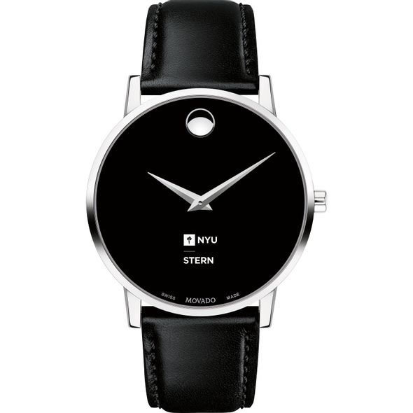 NYU Stern Men's Movado Museum with Leather Strap - Image 2