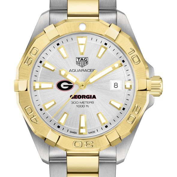 University of Georgia Men's TAG Heuer Two-Tone Aquaracer