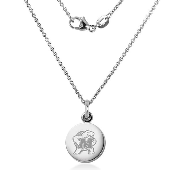 University of Maryland Necklace with Charm in Sterling Silver - Image 2