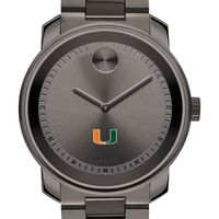 University of Miami Men's Movado BOLD Gunmetal Grey