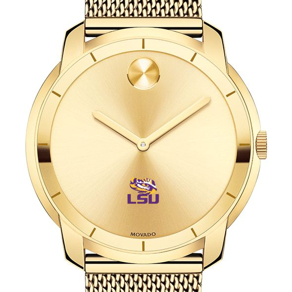 Louisiana State University Men's Movado Gold Bold 44