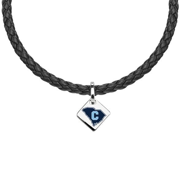 Citadel Leather Necklace with Sterling Silver Tag