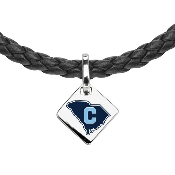 Citadel Leather Necklace with Sterling Silver Tag - Image 2