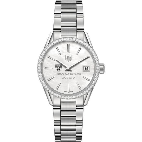 Harvard Business School Women's TAG Heuer Steel Carrera with MOP Dial & Diamond Bezel - Image 2