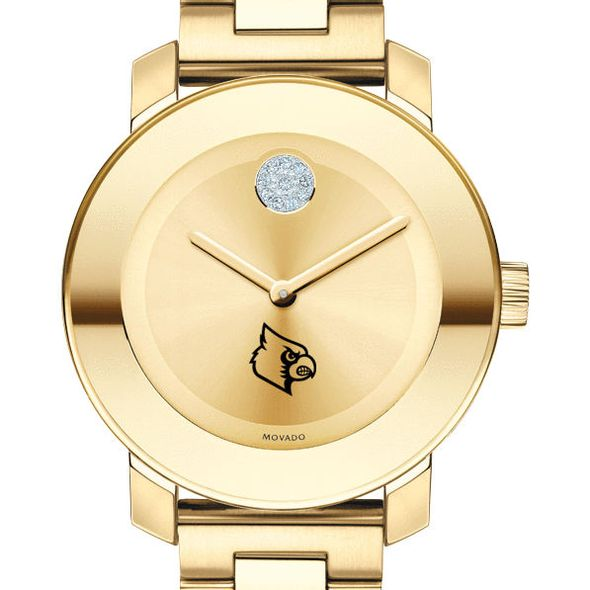 University of Louisville Women's Movado Gold Bold - Image 1