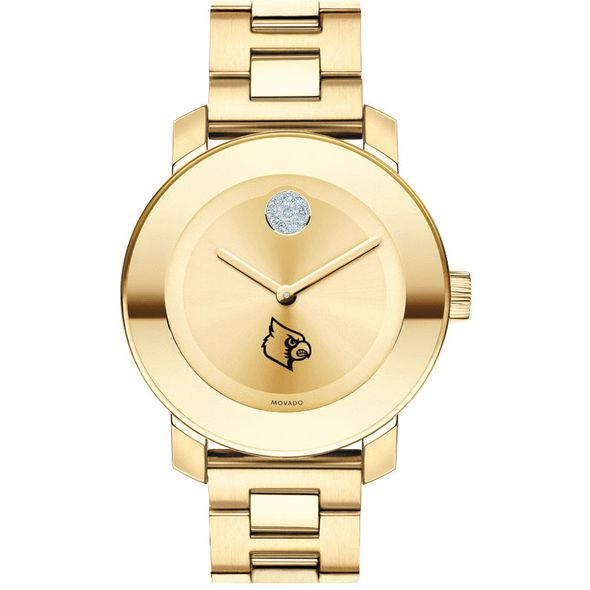 University of Louisville Women's Movado Gold Bold - Image 2